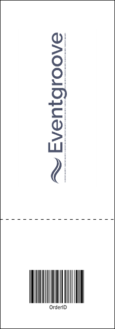 Gymnastics Event Ticket Product Back