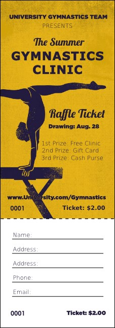 Gymnastics Raffle Ticket