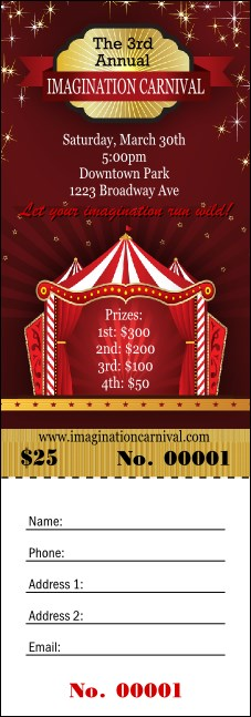 Red Tent Raffle Ticket