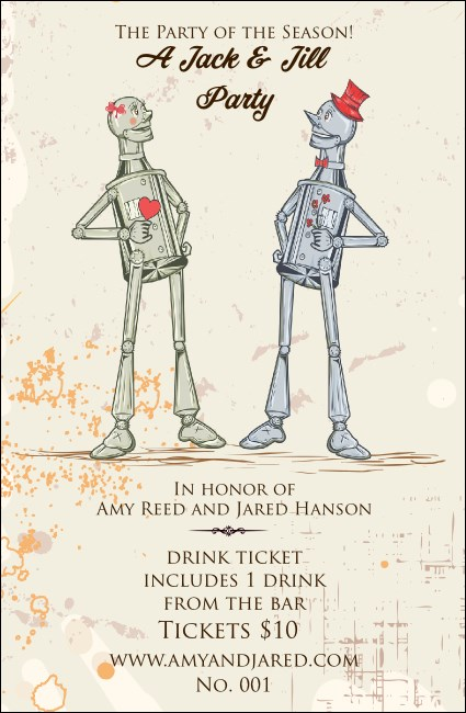 Robot Jack & Jill Drink Ticket