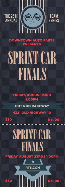Car Racing Event Ticket