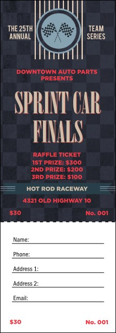 Car Racing Raffle Ticket