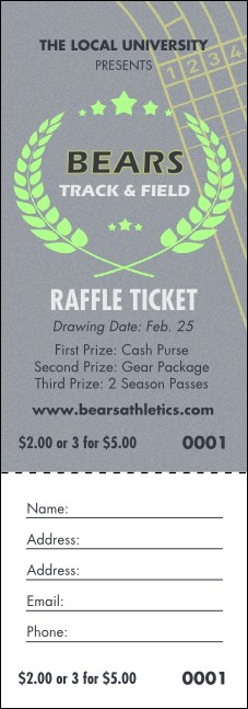 Track and Field Raffle Ticket