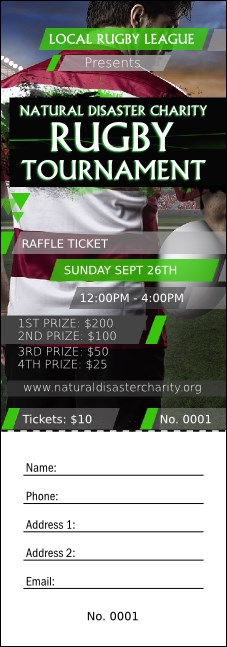 Rugby Stadium Raffle Ticket