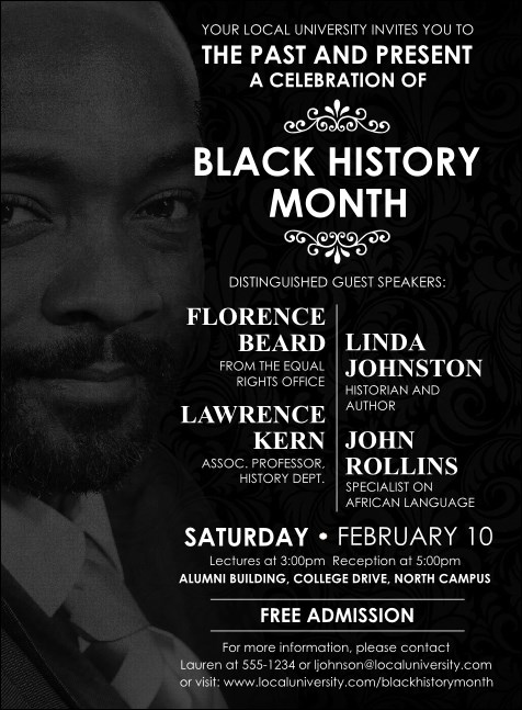 Black History Month Invitation Product Front