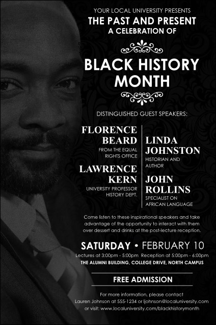 Black History Month Poster Product Front