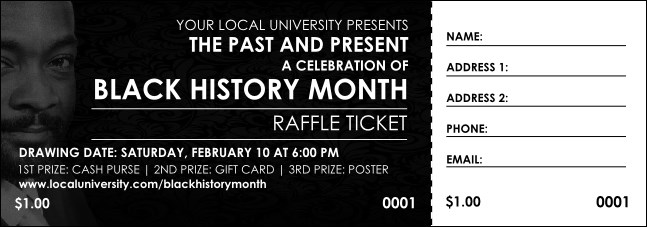 Black History Month Raffle Ticket
