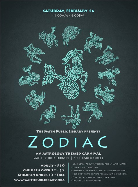 Zodiac Flyer Product Front