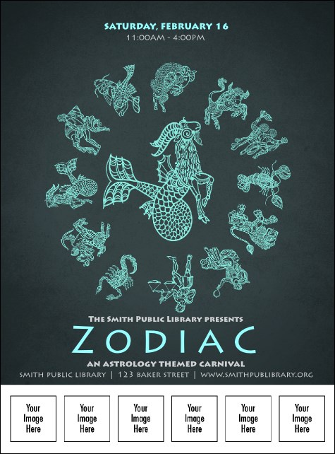 Zodiac Logo Flyer Product Front