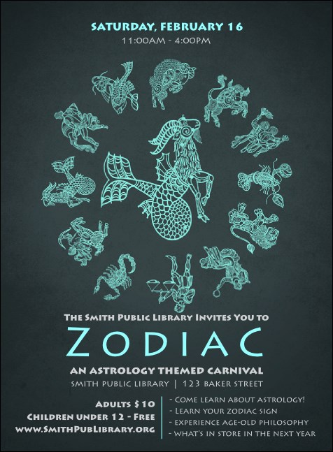 Zodiac Invitation Product Front