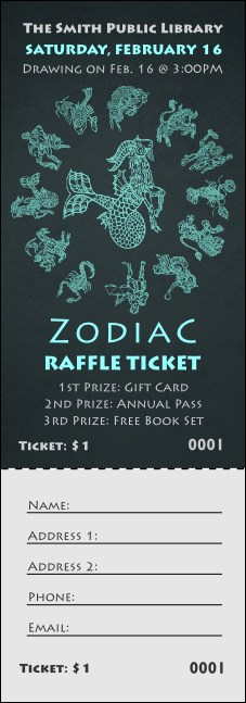 Zodiac Raffle Ticket