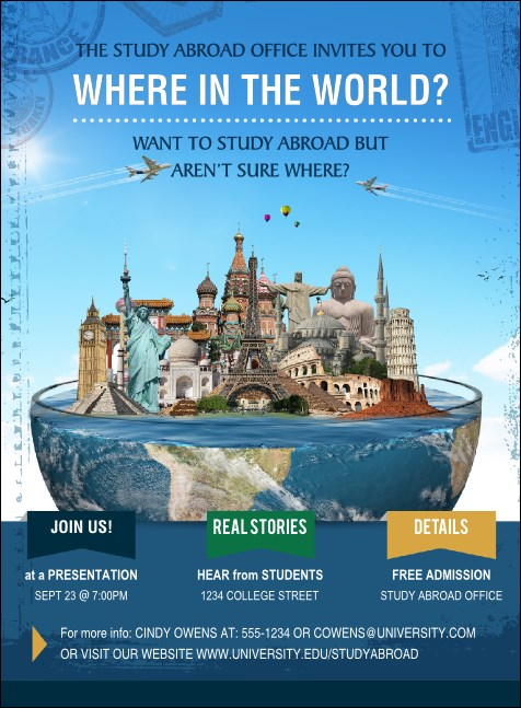World Travel Invitation Product Front