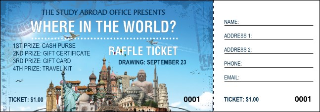 World Travel Raffle Ticket
