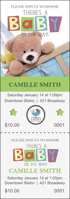 Baby Shower Teddy Event Ticket