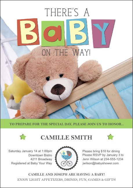 Baby Shower Teddy Postcard