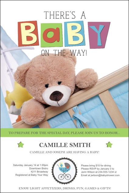 Baby Shower Teddy Poster