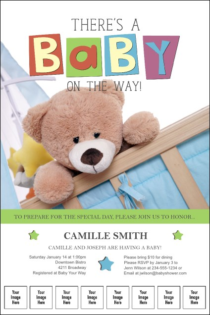 Baby Shower Teddy Logo Poster