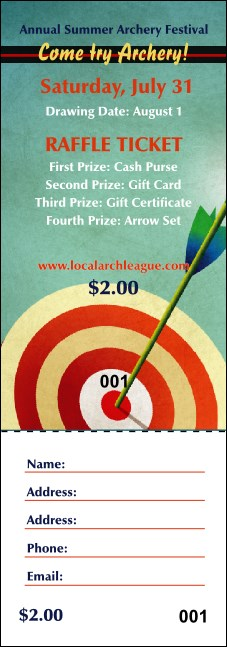Archery Raffle Ticket