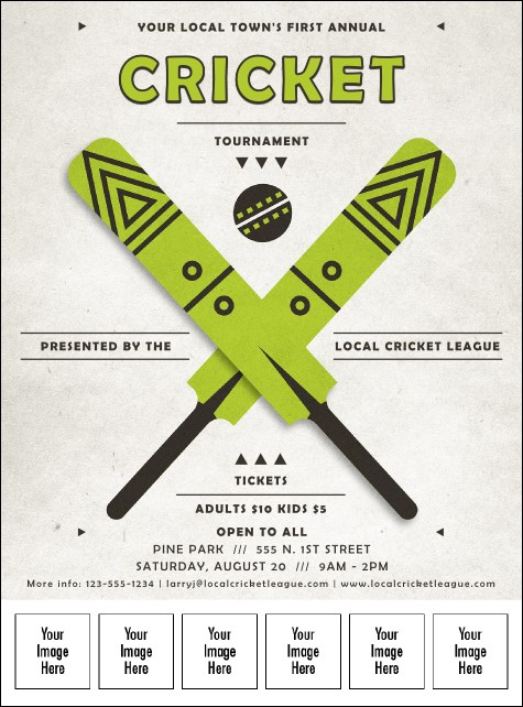 Cricket Logo Flyer