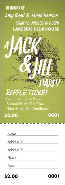Jack and Jill 2 Raffle Ticket