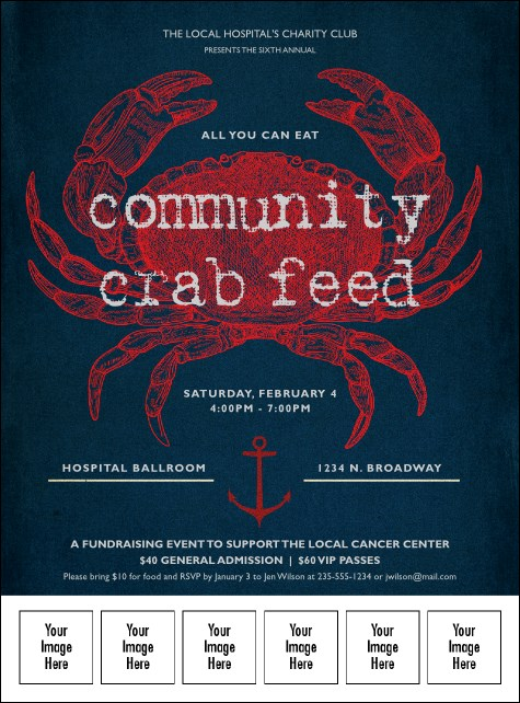 Crab Dinner Logo Flyer Product Front