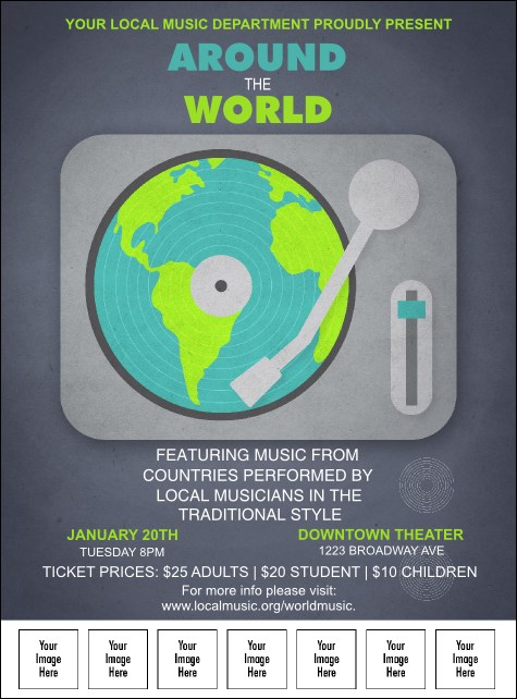 World Music Logo Flyer