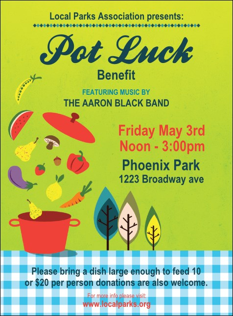 Potluck Benefit Invitation Product Front