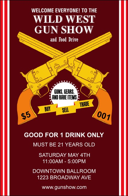 Gun Show Drink Ticket Product Front