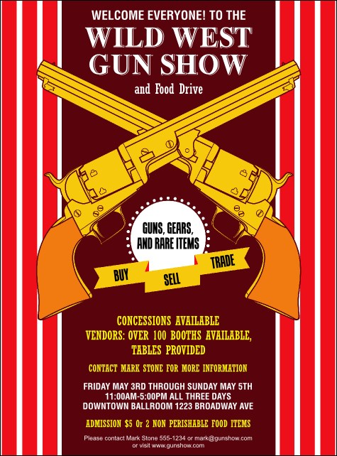 Gun Show Flyer Product Front