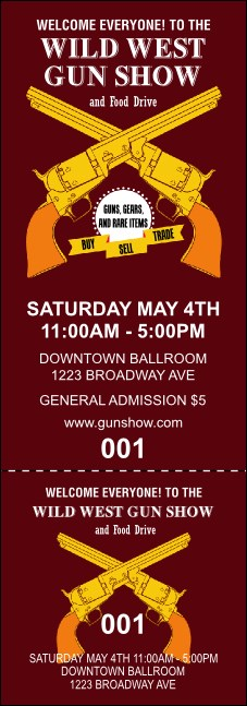 Gun Show Event Ticket
