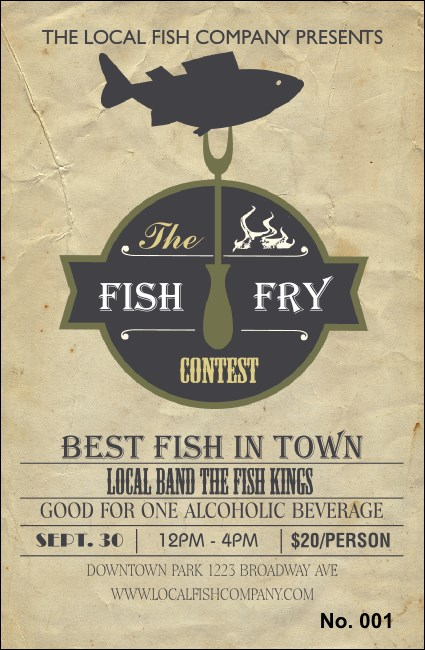 Fish Fry Drink Ticket Product Front