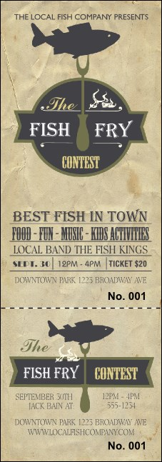 fish fry event ticket