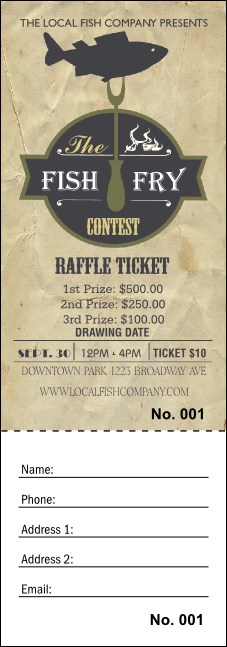 Fish Fry Raffle Ticket Product Front