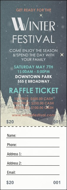 Winter Raffle Ticket Product Front
