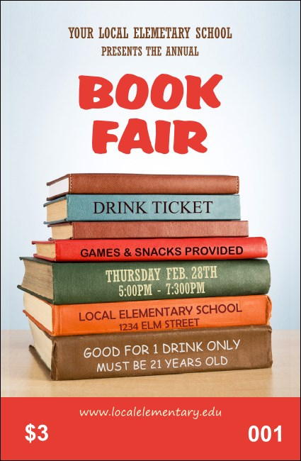 Book Fair Drink Ticket