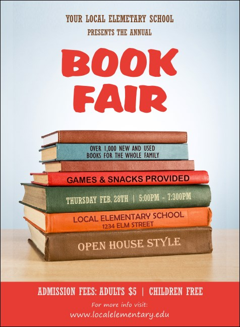 Book Fair Invitation Product Front