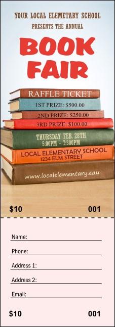 book fair raffle ticket