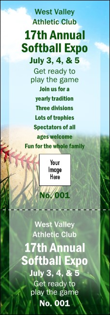 Softball Grass Event Ticket