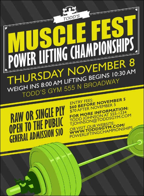Power Lifting Invitation