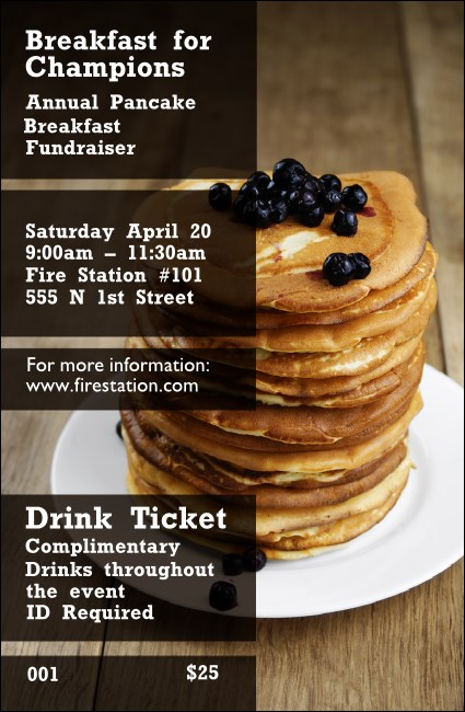 Pancake Breakfast Drink Ticket