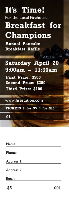 Pancake Breakfast Raffle Ticket