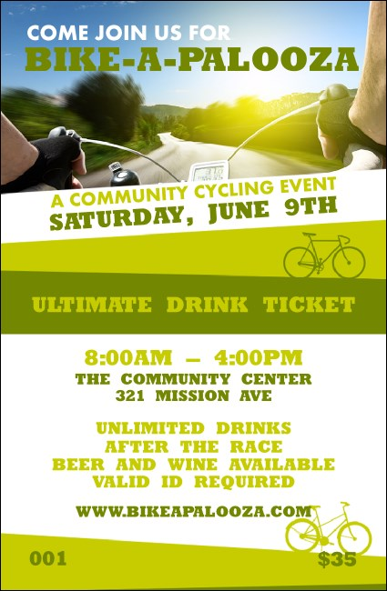 Bike A Palooza Drink Ticket