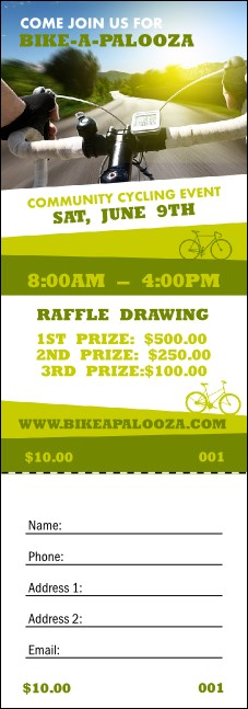 Bike A Palooza Raffle Ticket