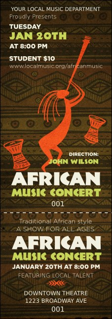 African Music Event Ticket