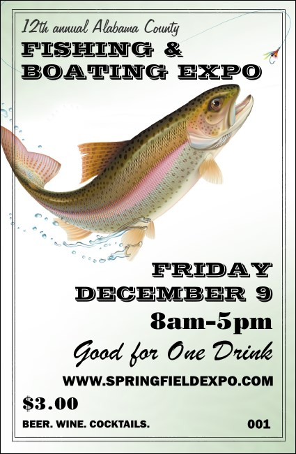 Fishing and Boating Expo Drink Ticket Product Front