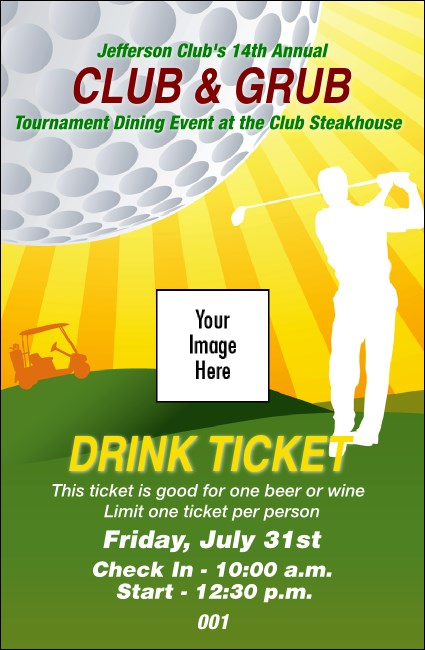 Golf Backswing Drink Ticket