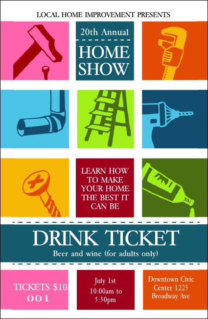 Home Show Drink Ticket