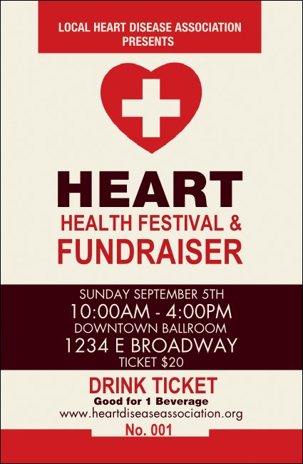 Heart Health Drink Ticket