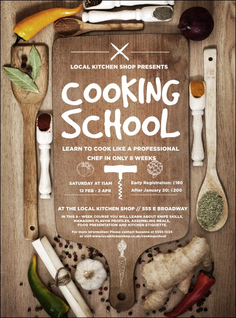 Cooking School Flyer