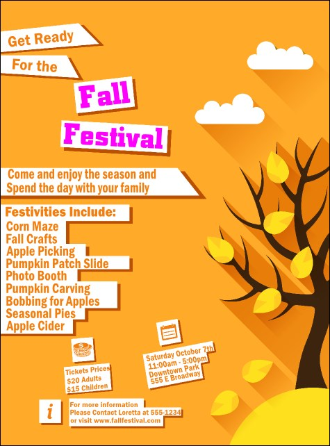 Fall Cut Paper Flyer